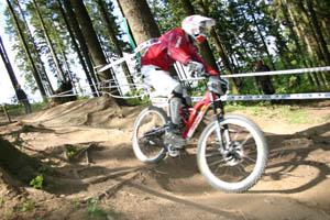 Bergab im Bikepark